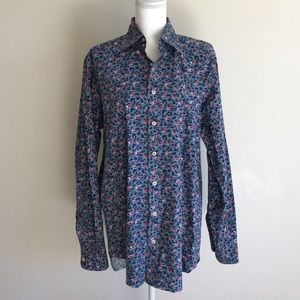 Boden Pintuck Floral Button Down